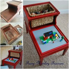 Repurposed Lego Table - what a clever idea!