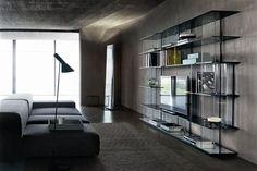 Mueble TV moderno / de cristal / de madera / de madera lacada INORI by Setsu & Shinobu Ito FIAM ITALIA