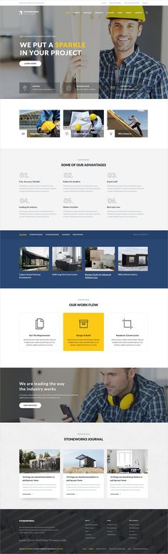 Stoneworks is clean and modern design 3in1 responsive #Drupal theme for #construction #architect & building agency website download now..