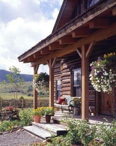 Sweet Porch on this sweet cabin.