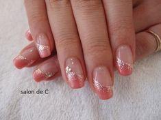 Nagelstudio C ★ Nails nail salons French Nail Designs, Nail Designs Spring, Nail Polish Designs, Acrylic Nail Designs, Nail Art Designs, Pink Nails, Glitter Nails, Gold Nail, Cute Nails