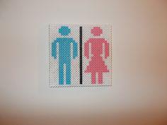 Toilet sign hama perler beads by Laurent Mathieu