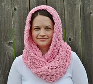 Ravelry: Hooded Crochet Infinity Scarf pattern by The Sequin Turtle
