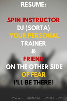 Indoor Cycling and Spinning Class Motivation.  Get on a Bike already!