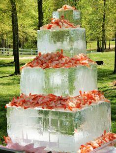 Jumbo Shrimp on Ice Sculpture Cubes