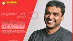 Deepinder Goyal is the Founder and CEO of Zomato. Prior to starting Zomato, Deepinder worked as a management consultant with Bain and Company in New Delhi. It was at Brain that Deepinder conceived the idea of an online restaurant information service after seeing the demand for menu cards among his colleagues. How he made a new start. Here is his success story. http://bit.ly/1HNaVok