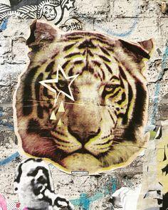 Sad tiger by?  #london #streetart #londonstreetart #streetartistry #streetartlondon #pasteup #paste #pasteupart #wheatpaste #londonpasteups #fashionstreet #ukstreetart #urbanart #wallporn #urbanwalls #notbanksyforum #pasteupartist #wallfilth