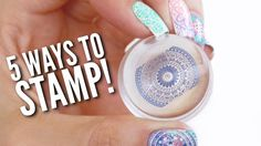 5 Different Ways To Use A Nail Stamper! — Hey guys 🙂 In today's nail art tutorial, we're going to be showing you 5 easy…Read Different Ways To Use A Nail Stamper! Nail Art Designs Videos, Simple Nail Art Designs, Nail Art Videos, Nail Designs, New Nail Art, Nail Art Diy, Diy Nails, French Nails, Nails Factory