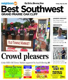 05/25: Old Towne Market businesses grow dedicated customer base in Cedar Hill. http://www.neighborsgo.com/stories/83210