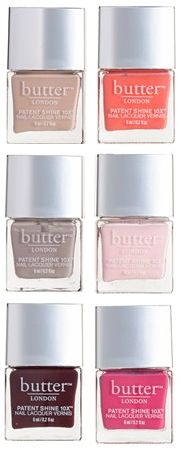 From pink, to coral to beige, this butterLONDON nail polish set has a shade fit for every mood.
