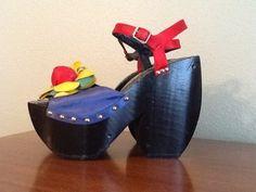 Incredible Kimel Sabots Sky High Vtg 70s Sunset Strip Groupies Platform Shoes 8 | eBay