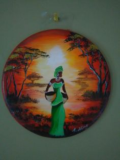 African Women in sunset ( by Stella Gemella) Mural Painting, Mural Art, Stone Painting, Canvas Painting Designs, Wall Art, African Drawings, African Art Paintings, African American Art, African Women