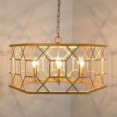 Drum Pendant, Leaf Pendant, Gold Pendant, Blue Glass Vase, Pendant Chandelier, Pendant Lighting, Candelabra Bulbs, Diffused Light, Abstract Styles