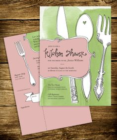 Kitchen Bridal Shower Invitation designed by my friend Amanda - Love her style.