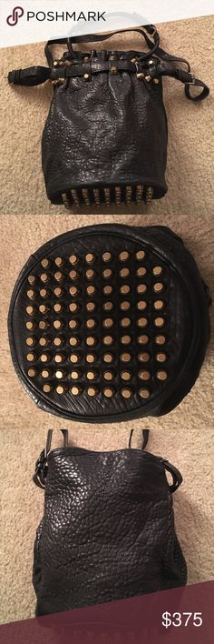 Alexander Wang Diego Bucket Bag. Black super supple Lamb Leather. Hardware is like a deep brass color. Good used condition, comes with original AWang dust bag. Please contact me if you'd like specific photos. NO TRADES!!! Alexander Wang Bags Shoulder Bags