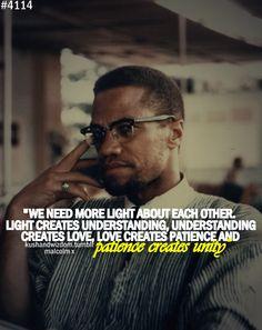 Malcolm X's worda speak loudly today.