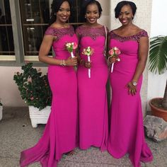 2016 New South African Mermaid Bridesmaid Dresses Cap Sleeves Lace Satin Formal Party Dresses For Wedding Ruched Fushia Maid Of Honor Gowns Funky Bridesmaid Dresses Girl Bridesmaid Dresses From Fraternallove, $99.52| Dhgate.Com