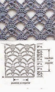 Interesting crochet stitch with chart