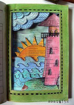 altered book - latarnia morska/lighthouse by moniq75k, via Flickr