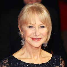 Helen Mirren's Changing Looks - 2014 The actress showed off her sparkling diamonds with a face-framing updo.