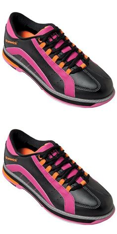 Brunswick Women's Raven Bowling Shoes, Black/Pink/Orange, 7.5