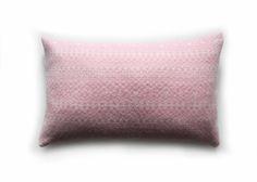 Pink/White Rectangle Knitted Fair Isle Cushion