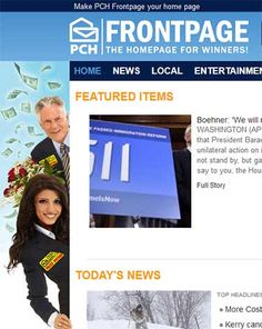 PCHFrontpage - The Homepage for Winners! pchfrontpage.com PCH Search and Win thanks to all those pch super fans  Go prize patrol #4900