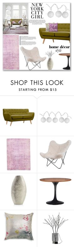 """Budget Chic in the City"" by fyenksfiona on Polyvore featuring interior, interiors, interior design, home, home decor, interior decorating, Dot & Bo, Room Essentials, HAUS and Crate and Barrel"