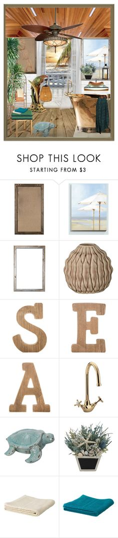 """""""Blissful Baths"""" by suelb ❤ liked on Polyvore featuring interior, interiors, interior design, home, home decor, interior decorating, Ballard Designs and Bloomingville"""