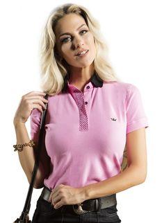 camisa polo rosa principessa maria clara