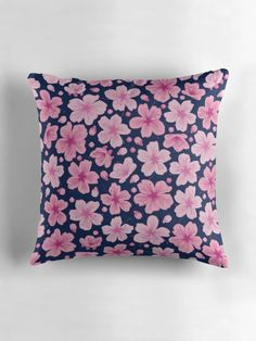 """""""Cherry Blossom"""" Throw Pillows by ZaryaKiqo 