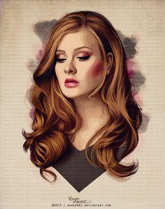 Adele+Vector+by+Rawan091.deviantart.com+on+@DeviantArt
