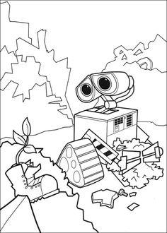 Wall-E Tegninger til Farvelægning. Printbare Farvelægning for børn. Tegninger til udskriv og farve nº 1