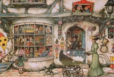 Toy shop, Anton Pieck