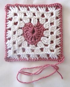 The Heart Granny Square not only teaches the Heart and the Granny Square, it also teaches how to make backed granny squares.