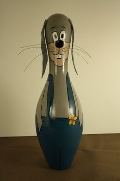 Bunny Rabbit Bowling Pin by erwindoodads on Etsy