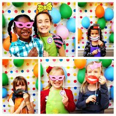 fun times in our photo booth at my daughter's 8th art party birthday!