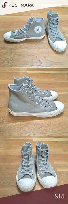 Gray Suede Converse CONS Gently worn Gray Suede Converse CONS Converse Shoes Sneakers