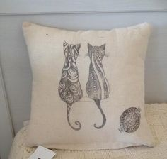 "Vintage Cushion with Provencal Style "" KAT"" by ByBeeSee on Etsy Vintage Cushions, Provence Style, Cushion Fabric, Different Patterns, I Shop, Throw Pillows, Unique, Handmade, Etsy"