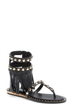 Ivy Kirzhner 'Barbados' Fringed Leather Thong Sandal (Women) available at #Nordstrom