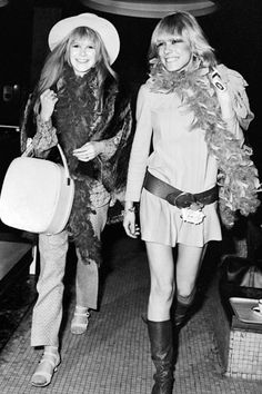 Style Icon: Marianne Faithfull...Marianne, on the left, used to wear tons of cute flats and sandals with all of her outfits.