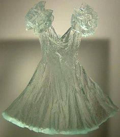 A dress made of glass on display at Wheaton Village in Millville, New Jersey