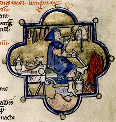 Man eating. detail. Flemish 13th cent. bodl_Add.A.46   Flickr - Photo Sharing!