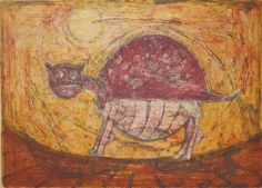 Artwork by Rufino Tamayo, Cat, Made of lithograph in colors