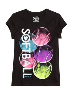 Softball Graphic Tee | Girls Graphic Tees Clothes | Shop Justice