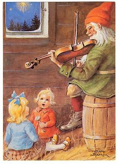 Скандинавское Рождество, Старинные Карты, Рождественский Эльф, Феи, Костюмы, Эльфы, Норвегия, Открытки