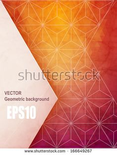 Abstract geometric background with polygons. Info graphics composition with geometric shapes.Retro label design. Vector illustration.