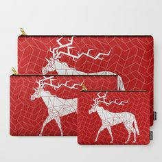 Reindeer Unicorn Carry-All Pouch