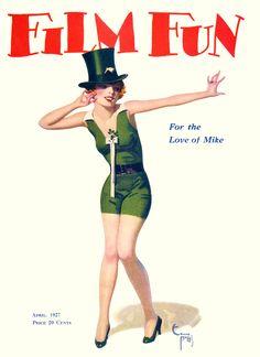 Film Fun - April, 1927.  Cover illustration by Enoch Bolls.