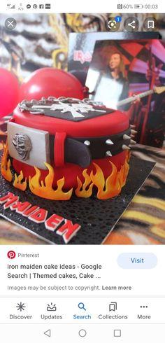 Rock Cakes, Iron Maiden, Themed Cakes, Birthday Cake, Desserts, Food, Theme Cakes, Tailgate Desserts, Deserts